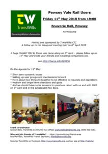 Pewsey Vale Rail User Group Agenda 11th May 2018