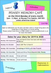 Latest Memory Cafe Schedule